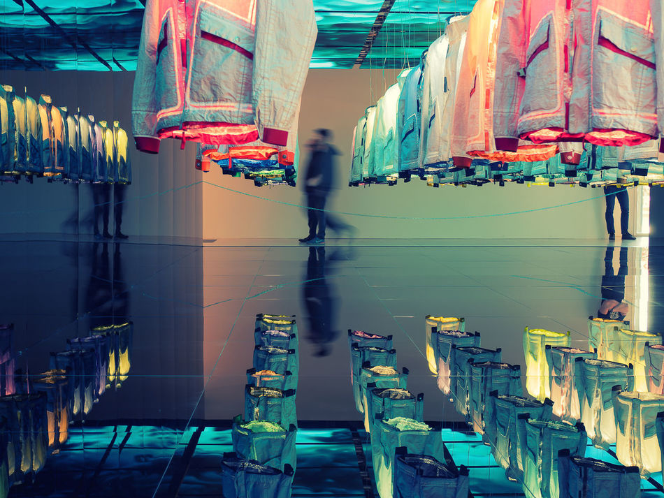 Reflection Architecture One Person Only Men One Man Only Multi Colored Large Group Of Objects Backgrounds No People Variation Fluo  Close-up Fluorescent Light Fluo  Fluorescent Colors Day Adult Illuminated Fluorescente Fluorescence People Indoors  Studio Shot Break The Mold Art Is Everywhere