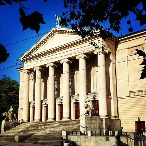 Autumn Poznań City Theater Fredry Architecture Trees Heaven Sky Nice Poland Ilovemycountry EwaJoannaMatczyńskaPhotography
