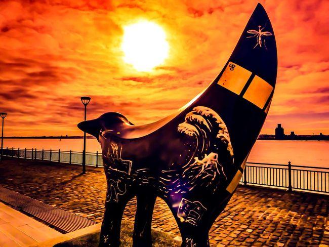 Super Lambanana On Liverpool's Water Front... Red Sunset Over The Mersey...x Sun Sunset Liverpool Merseyside Mersey River Riverside It's Liverpool Itsliverpool Red RedSky Pier Lambanana Superlambanana Super Lambanana Sky Skyporn First Eyeem Photo Albert Dock Marine Showcase: February