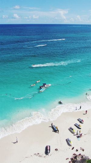 Bahamas Beach Photography Horizon Over Water Sand Vacations Blue