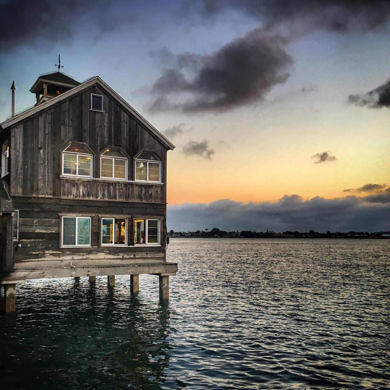 Sun set at seaport village Traveling Sea Sunset IPhoneography