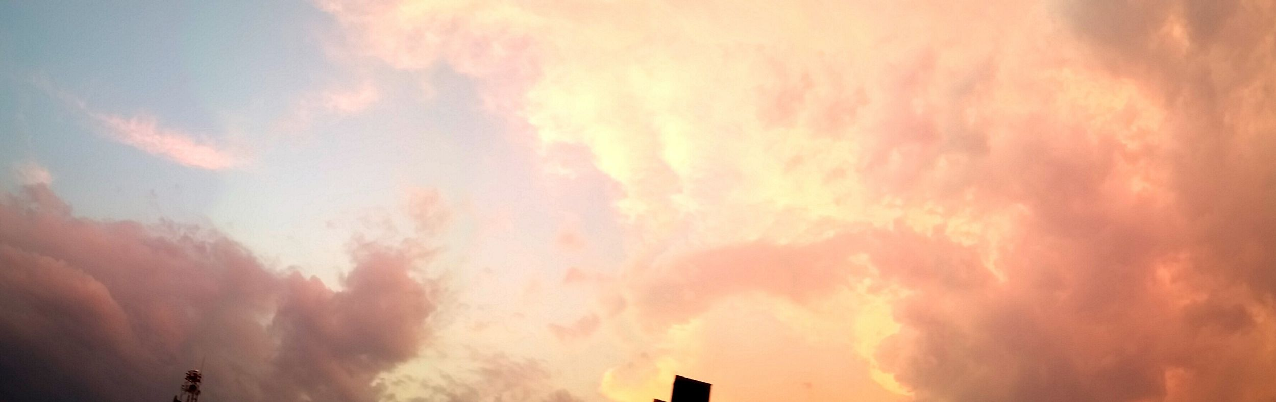 I Love It ❤ Sunset Clouds And Sky Pastel Colours Beautiful Tegucigalpa City