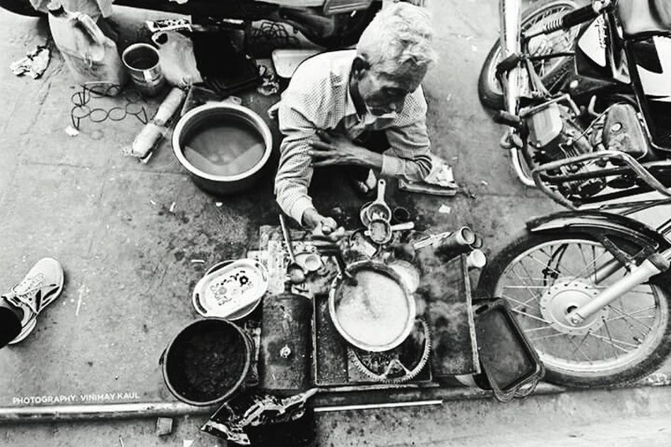 Street Vendor making Chai Tea in Jaipur Rajasthan Incredible India Rich VS Poor