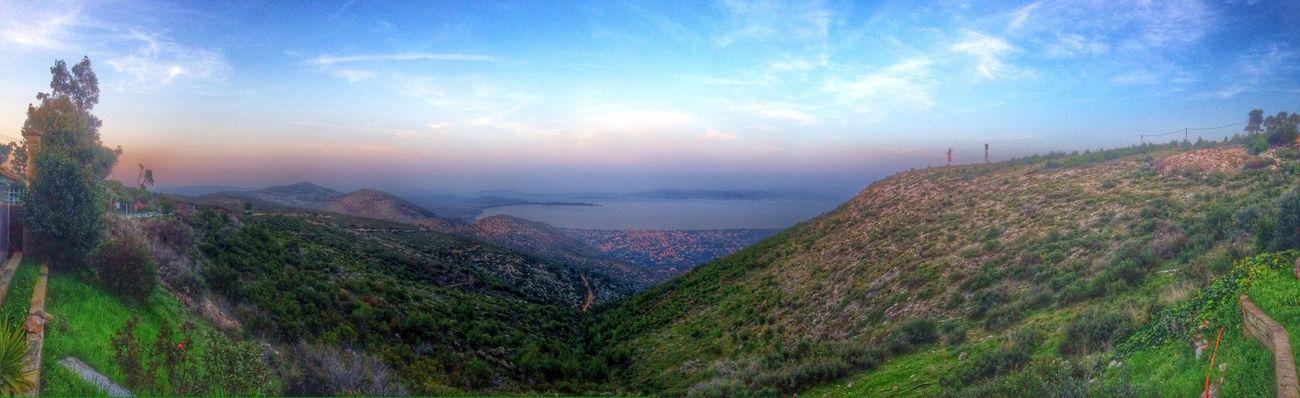 Hello World Enjoying Life Wonderful View Panorama