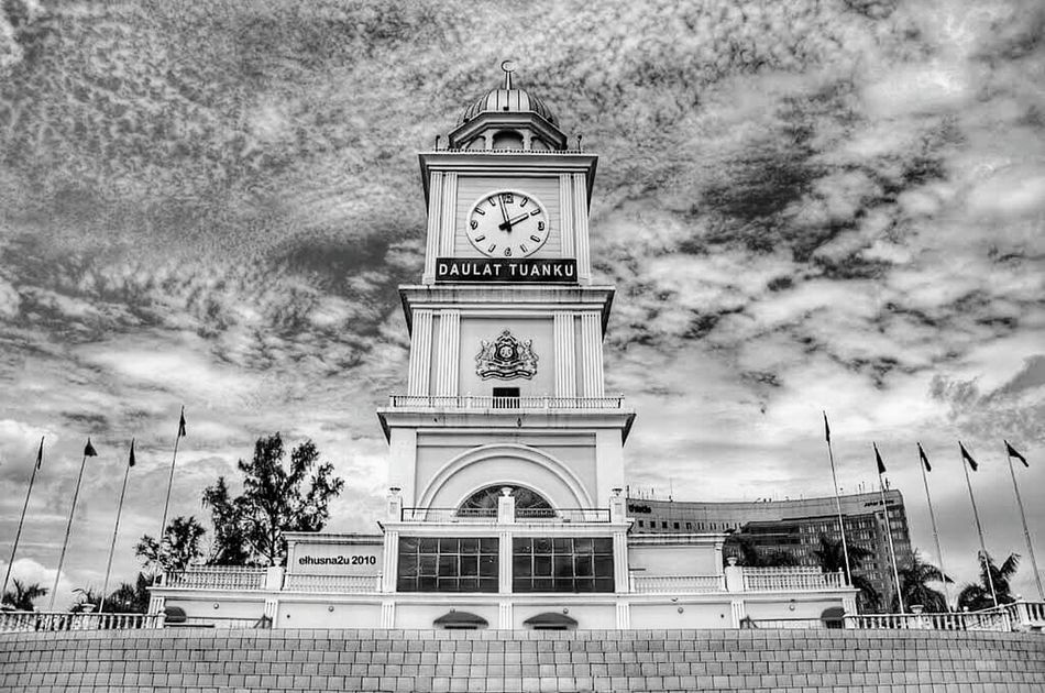 johor Time Clock Clock Tower Tree Tower Outdoors Architecture Building Exterior Clock Face Built Structure Travel Destinations Sky No People Day Minute Hand Astronomy Astronomical Clock Johor, Malaysia Johore JohorAwesome