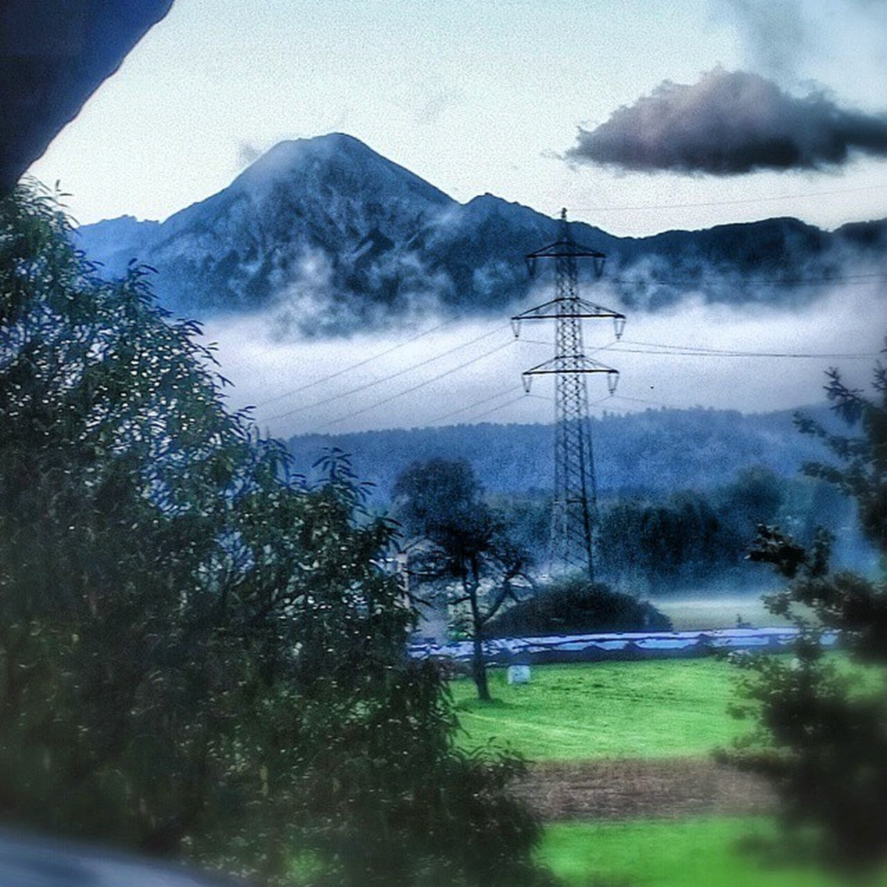 electricity, cable, electricity pylon, connection, fuel and power generation, power line, tree, power supply, day, technology, no people, landscape, sky, mountain, outdoors, nature, beauty in nature