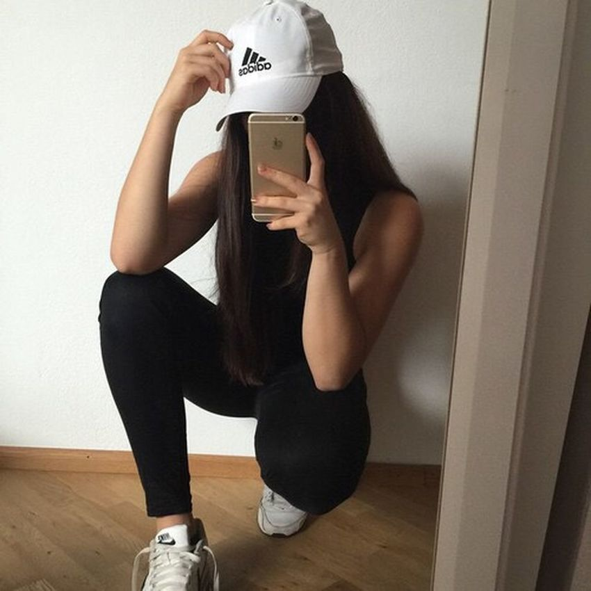 Adidas Adidasoriginals Hair Fashion Model Shoes Darkclothes Pretty Girl Black