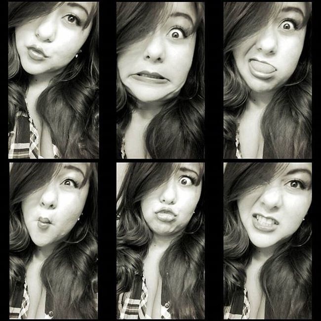 I may be bored.. & or procrastinating.. 😂😝😘😏😛😒 Blackandwhite Snapchat Weird Sillyfaces  Silly Weirdfaces