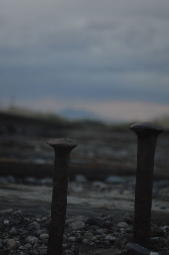 Beach Close-up Day Field Focus On Foreground No People Outdoors Railroad Ties Scenics Sky Tranquil Scene Tranquility
