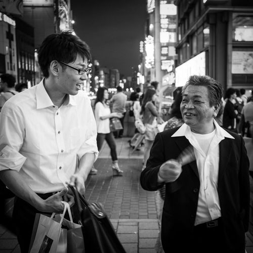 a night out with the boss Street Photography Japanese Style Monochrome Night Life