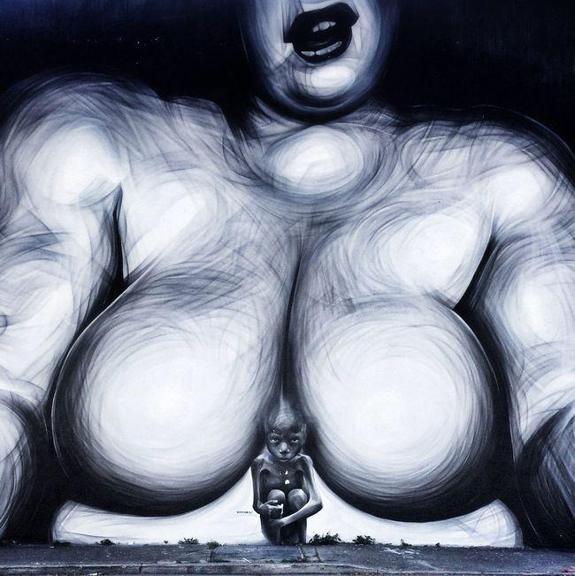 Streetart Walking Around Exploring Art