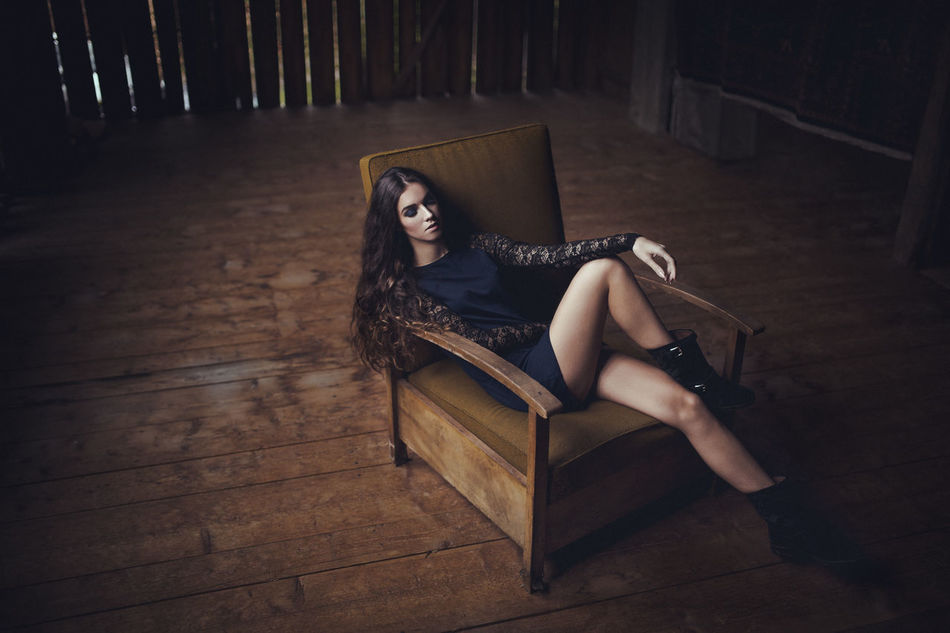 Beautiful stock photos of fashion, 20-24 Years, Armchair, Beautiful Woman, Boot
