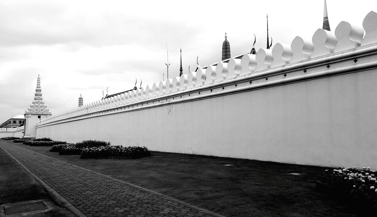 Black And White Architecture Grand Palace Bangkok Thailand Wall Outdoors Architecture_collection Art Pattern, Texture, Shape And Form Leading Line Pattern