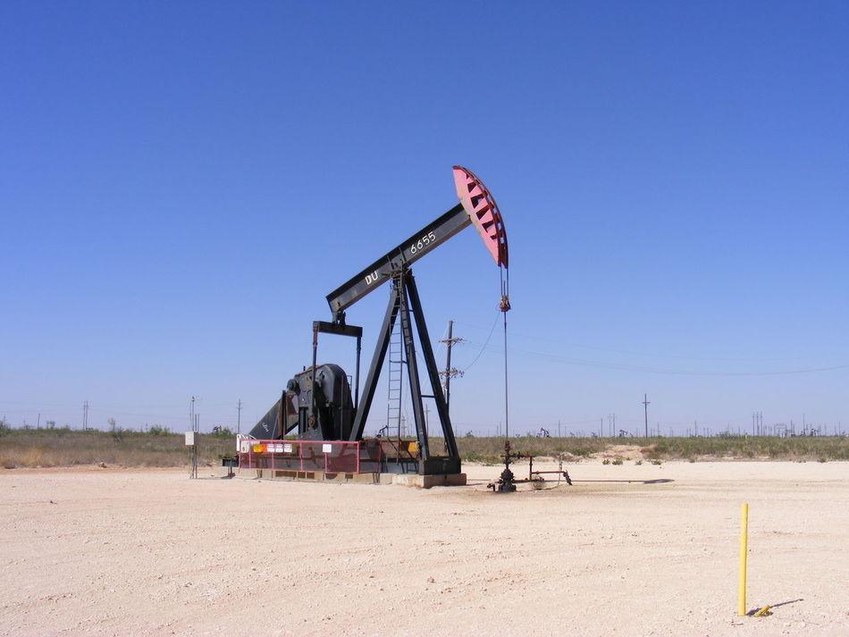 West Texas Pump Jack Americana Automated Clear Sky Oilfield Outdoors Permian Basin Production Pumpjack West Texas