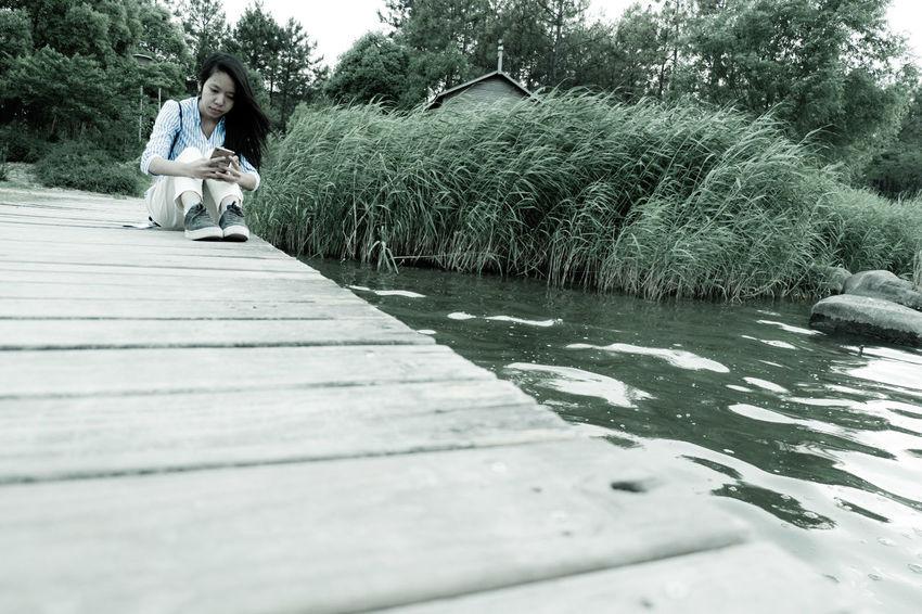 Sitting Park Alone X-a3 Fujifilm Fujifilm X-A3