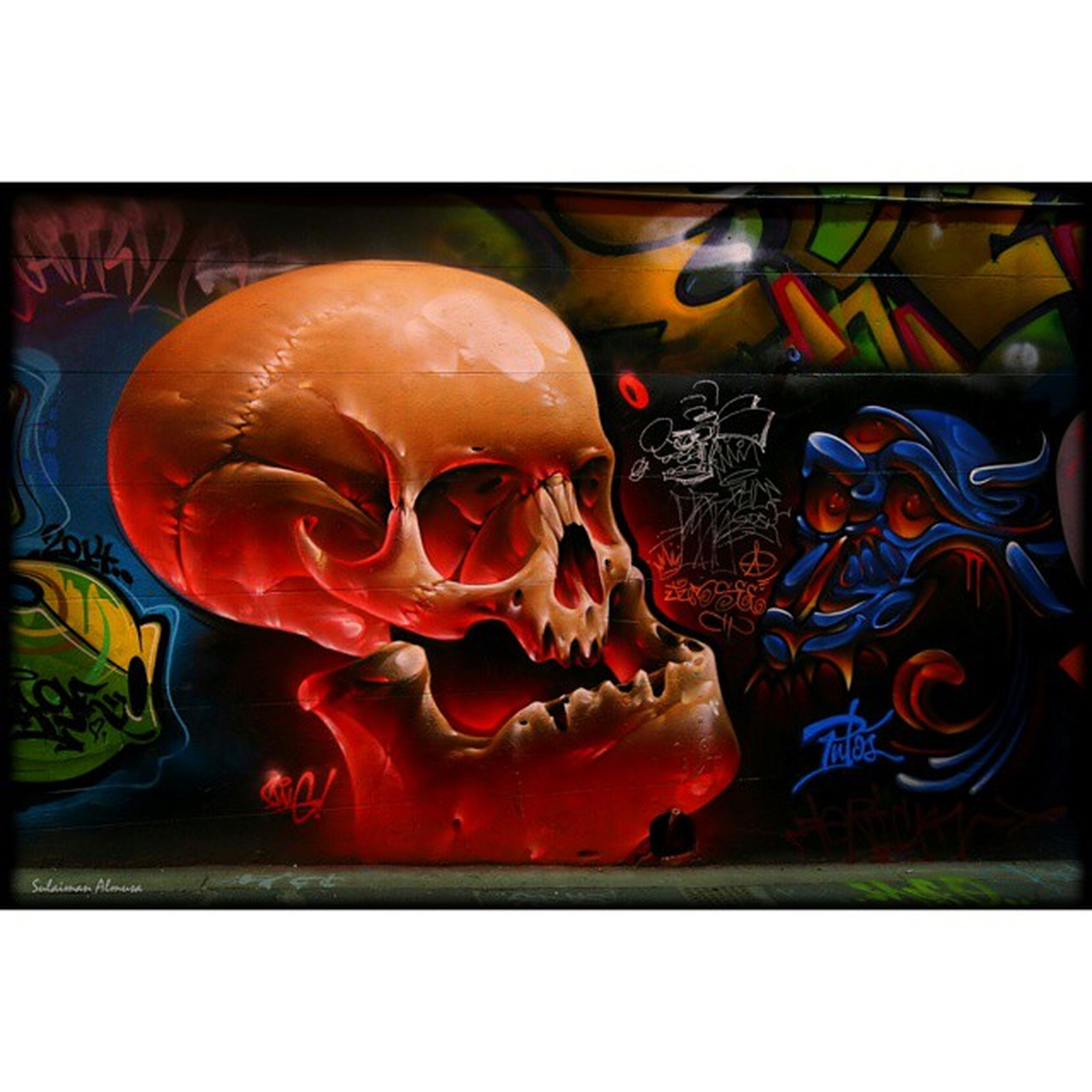 transfer print, auto post production filter, art, art and craft, creativity, human representation, multi colored, indoors, animal representation, sculpture, statue, graffiti, no people, arts culture and entertainment, orange color, craft, wall - building feature, colorful