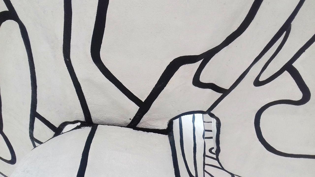 Sculpture No People Backgrounds Art Dubuffet Portugal Lisbon Black & White