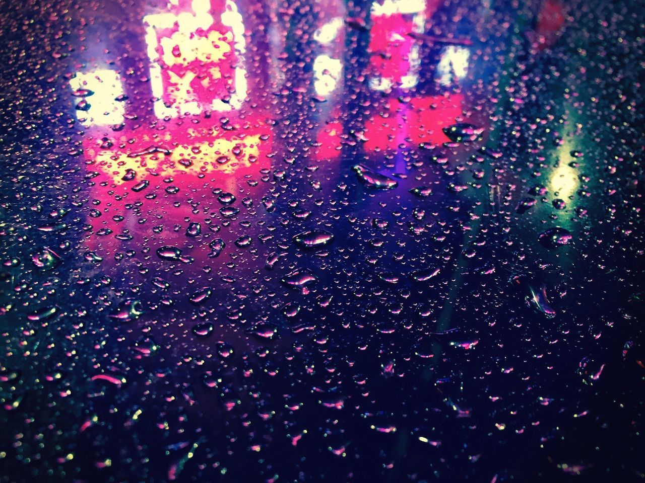 Wet Multi Colored Chinatown Driver Motion Picture Mood Reflection Street No People Weather Close-up RainDrop