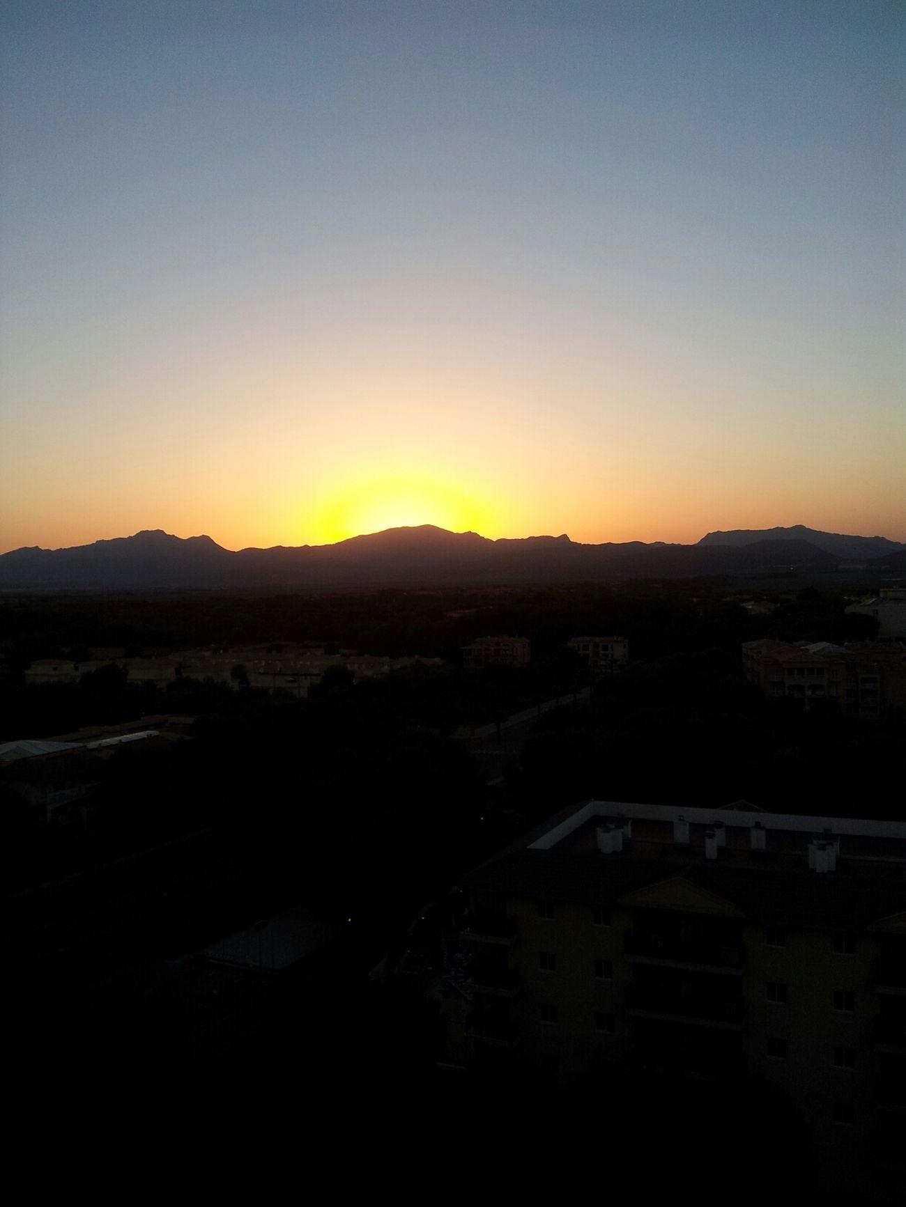 Enjoying Life Taking Photos Orange Sunrise