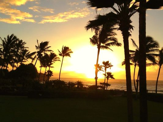 sunrise in Kapa'a by Tony Edwards