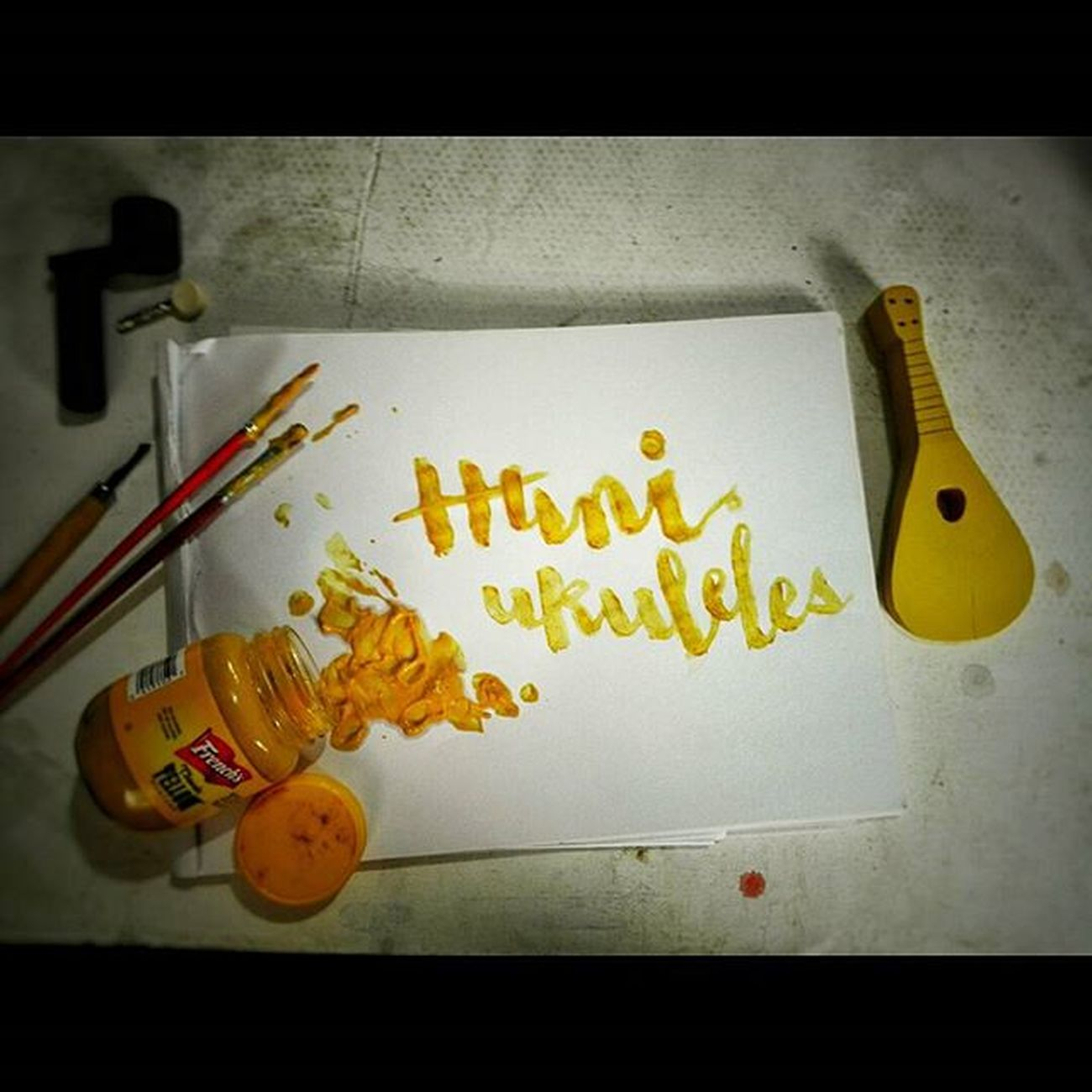 to eat or not to eat... Expiredmustard . . . . . . . . . Calligraphy Foodart Mustardart Naturalcolor  Huniukuleles Ukecebu Handmade Funart