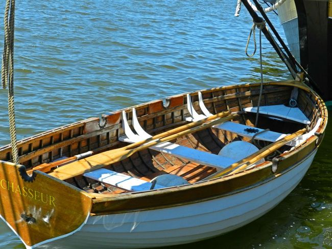 Row Boat Bay City Blue Boat Close-up Day Floating Michigan Mode Of Transport Nature Nautical Vessel No People Ore Outdoors Paddles Painted Wood Part Of Rippled Row Row Boat Rowboat Sailboat Tranquility Water White Wooden