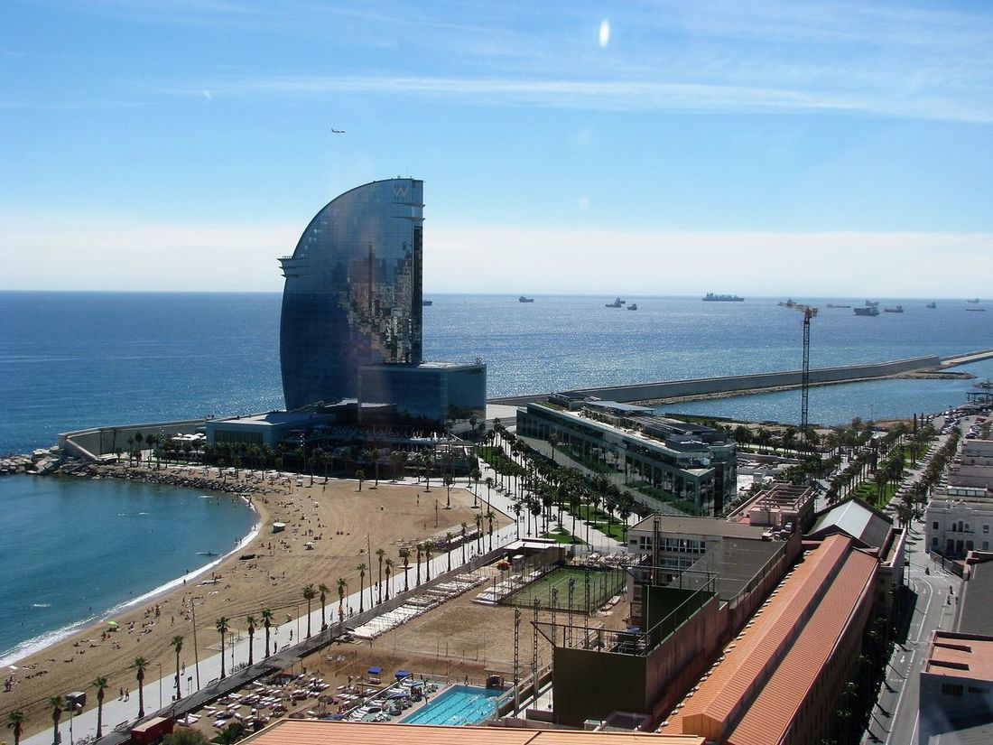 Architecture Barcelona Catalunya City Cityscape Day Fhotography Freedom Fun Horizon Over Water Industry Love Story No People Outdoors Sea Sky Turism Urban Skyline Water