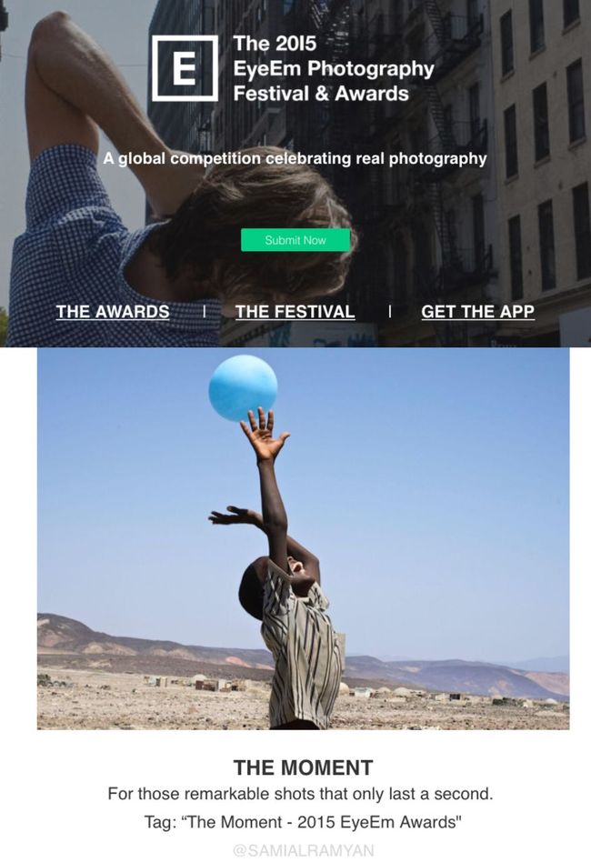 "Again I'm honoured with EyeEm by choosing my photo of Mohammed Ali, 10 years old playing with his ballon in the desert of Djibouti, shown as an example of ""The Moment"" category in the press kit of the coming EyeEm Photography Festival & Awards. You can join the competition with ten different categories. Here's the link of the awards: festival.eyeem.com"