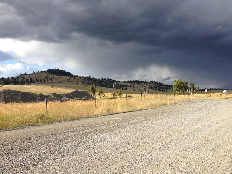 Storm coming Country Road Storm Cowboy Country Nicola Valley Canada