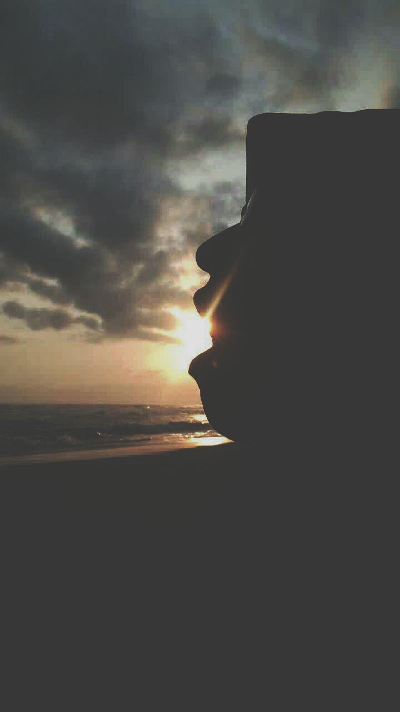Life Is A Beach Sunset Sillhouette