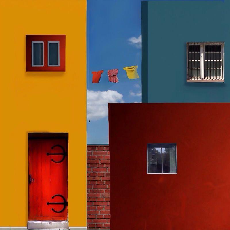 Ultra Color colorful Hello World Minimalism Architecture