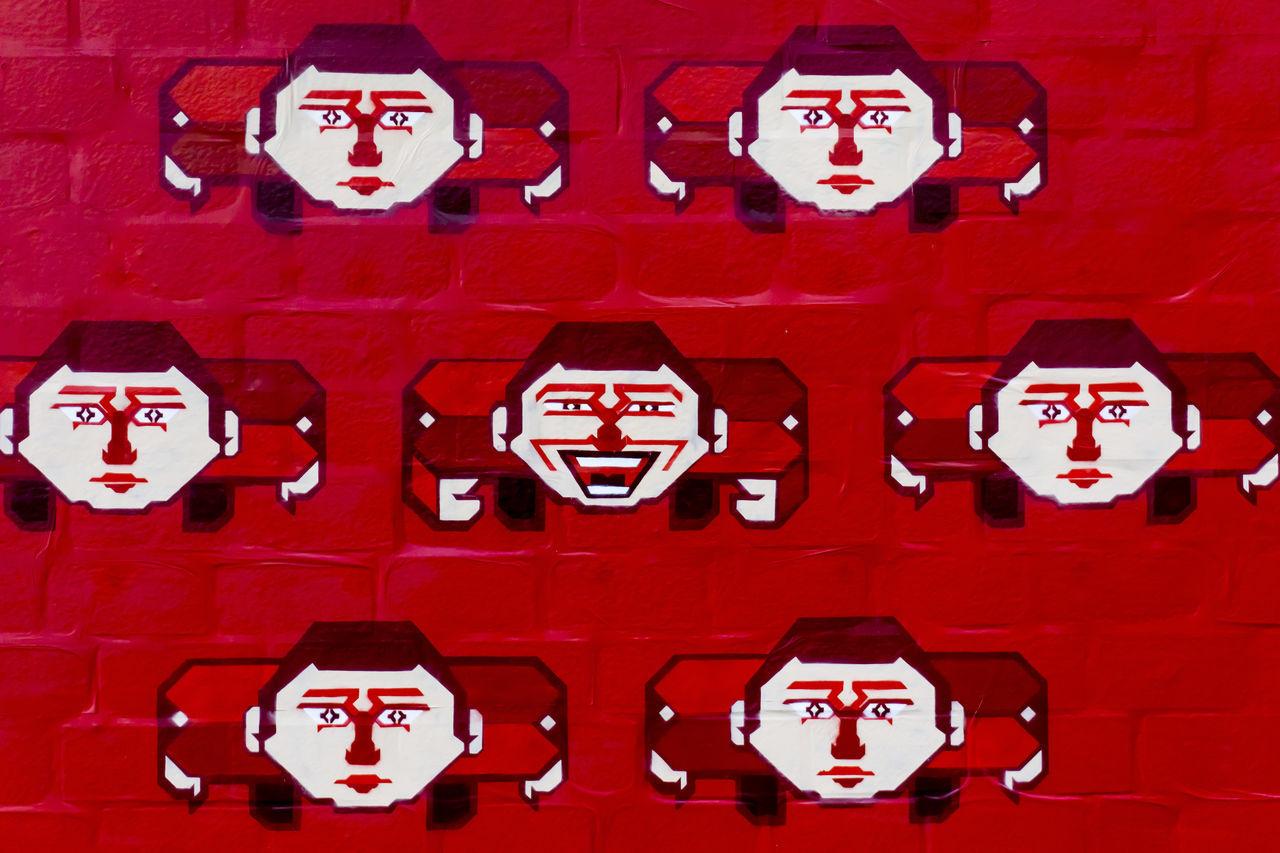 red, indoors, no people, full frame, illuminated, night, close-up