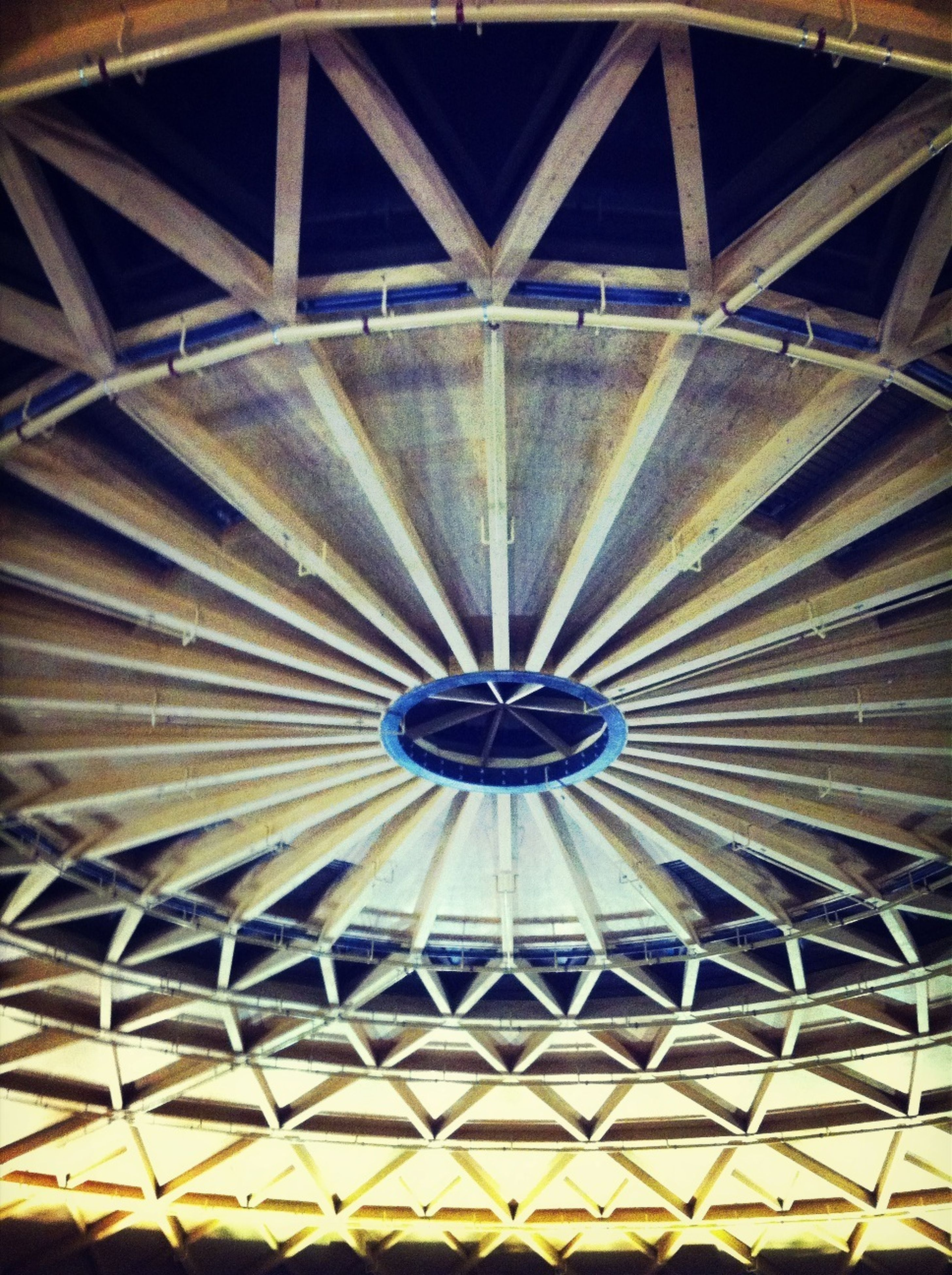 ceiling, architecture, built structure, pattern, low angle view, design, indoors, full frame, backgrounds, directly below, architectural feature, circle, geometric shape, dome, shape, repetition, no people, building exterior, ornate, skylight