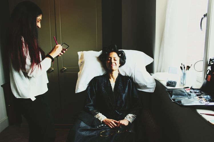 Getting Ready Makeup Hair Bride Beauty Makeupartist Shadow Pamper The Photojournalist - 2017 EyeEm Awards