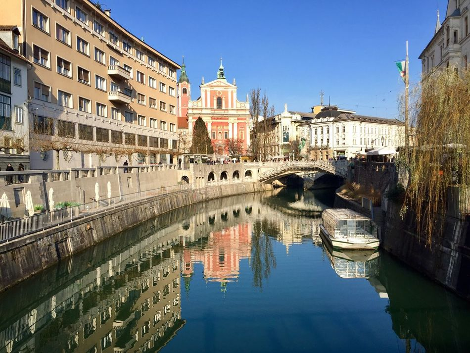 Ljubljana Slovenia Slovenia Reflection Canal