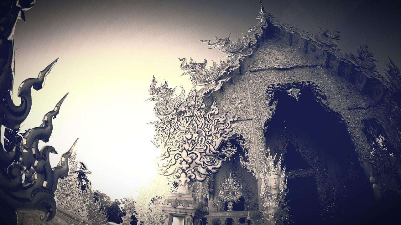 White Temple Watrongkhun Whitetemple Chiengrai Temple Thailand Built Structure Architecture Building Exterior Art ArtWork B&w Blackandwhite Blackandwhite Photography EyeEm Beautiful Photo Photography Photooftheday EyeEmBestPics EyeEm Best Shots EyeEm Gallery EyeEm Best Edits Religion