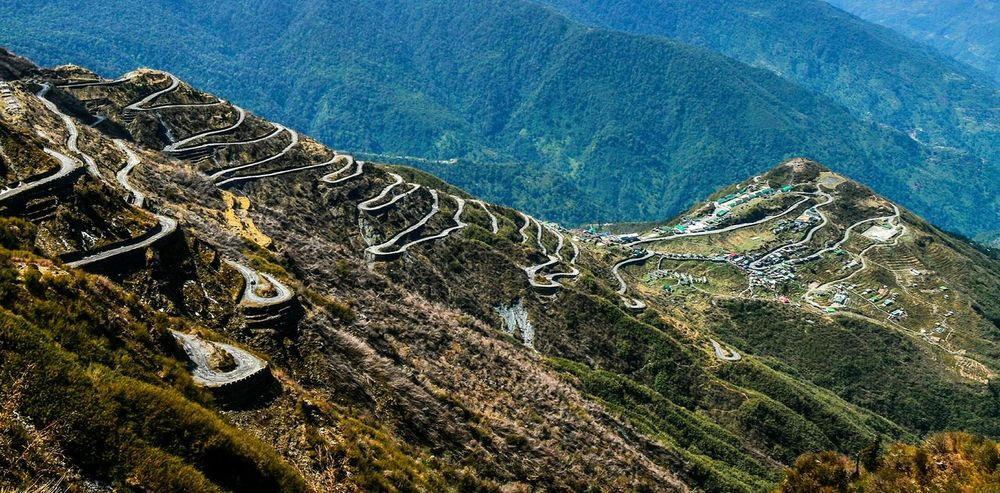Roads High Angle View No People Nature Outdoors Tranquility Beauty In Nature Zig-zag Himalayas Scenics Travel Nature Photography Landscape_Collection Nature The Great Outdoors - 2017 EyeEm Awards