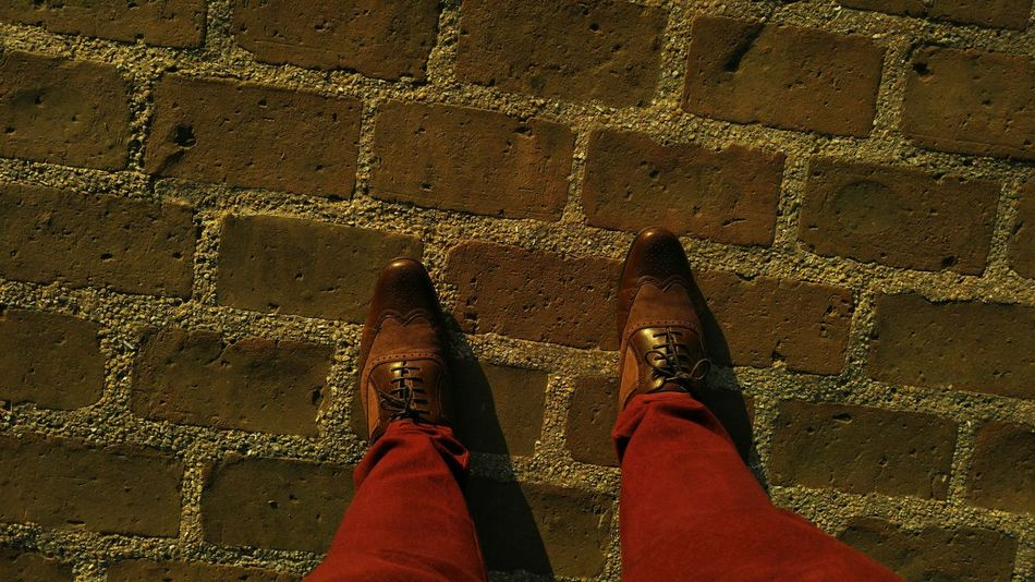 I may not be there yet, but I'm closer than I was yesterday. . Shades Of Brown Shoefie Bricks Taking Steps