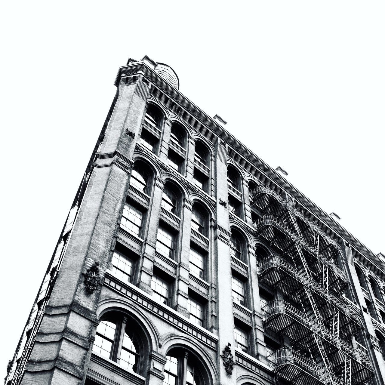 Traveling Home For The Holidays New York City NYC Street Look Up And Thrive Black And White Collection  Black And White Street Photography Architecture_bw City View