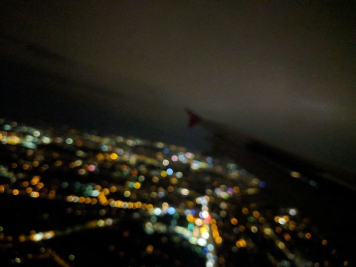 Nofilter Urban Skyline Sky Window Airplane No People Airplane Lights City