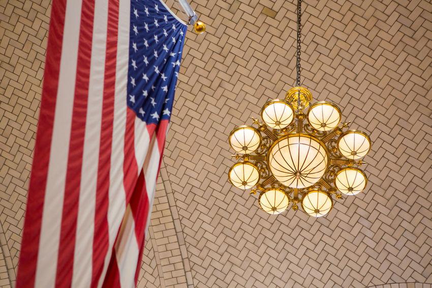 911 911 Memorial 911 Terror Day Ellis Island  Flag Hanging Indoors  Nature New York No People Terrorist Attack USA