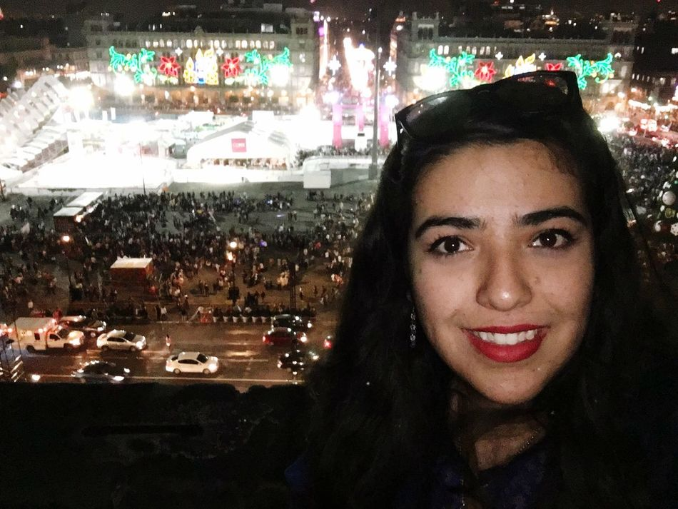 Tourist in my own city 😂 Looking At Camera Portrait Smiling Real People Night Happiness One Person Illuminated Young Adult Outdoors People Cathedral Mexico City
