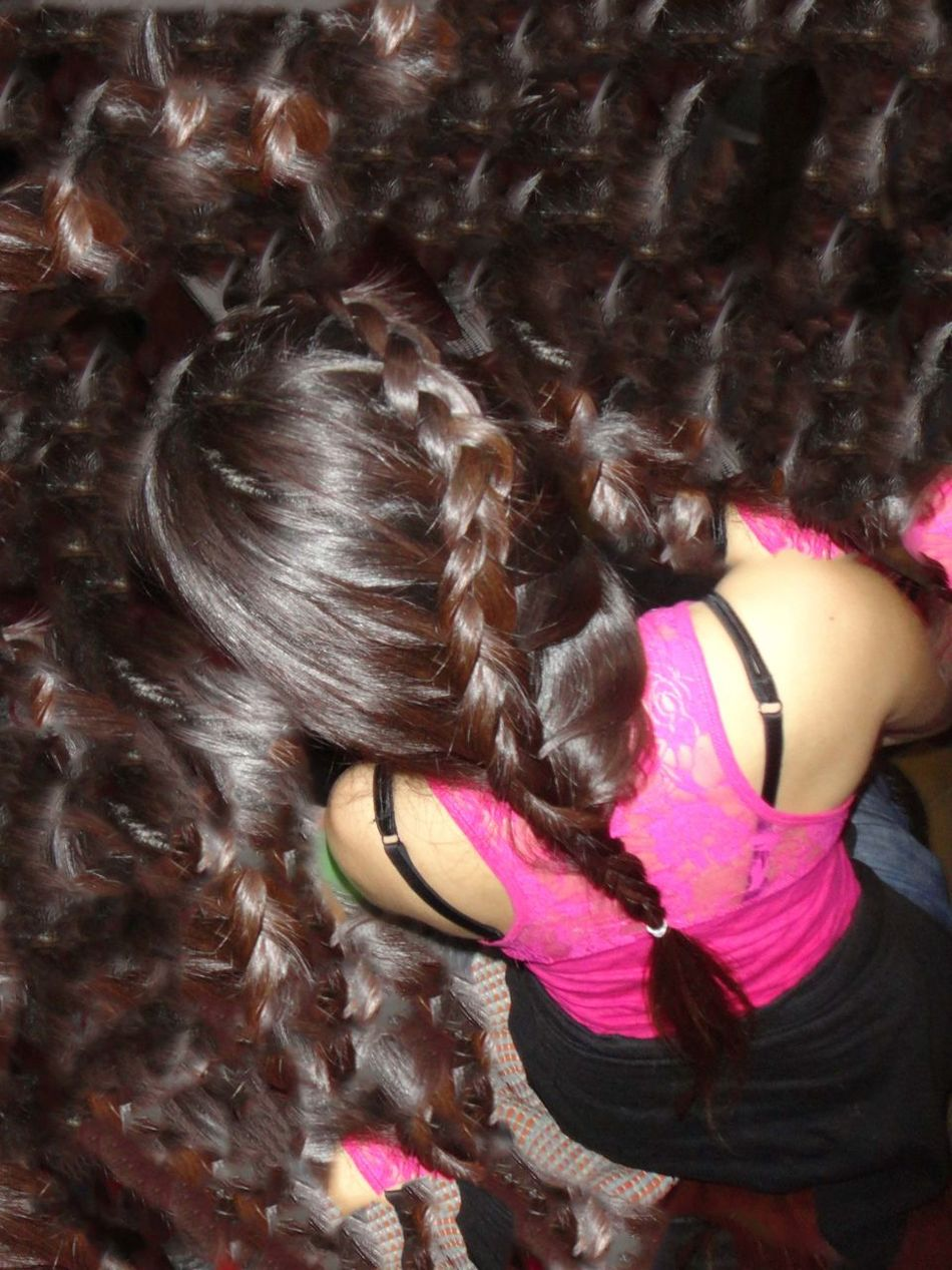 Braided Hair First Braid Girl Hairstyle Trying