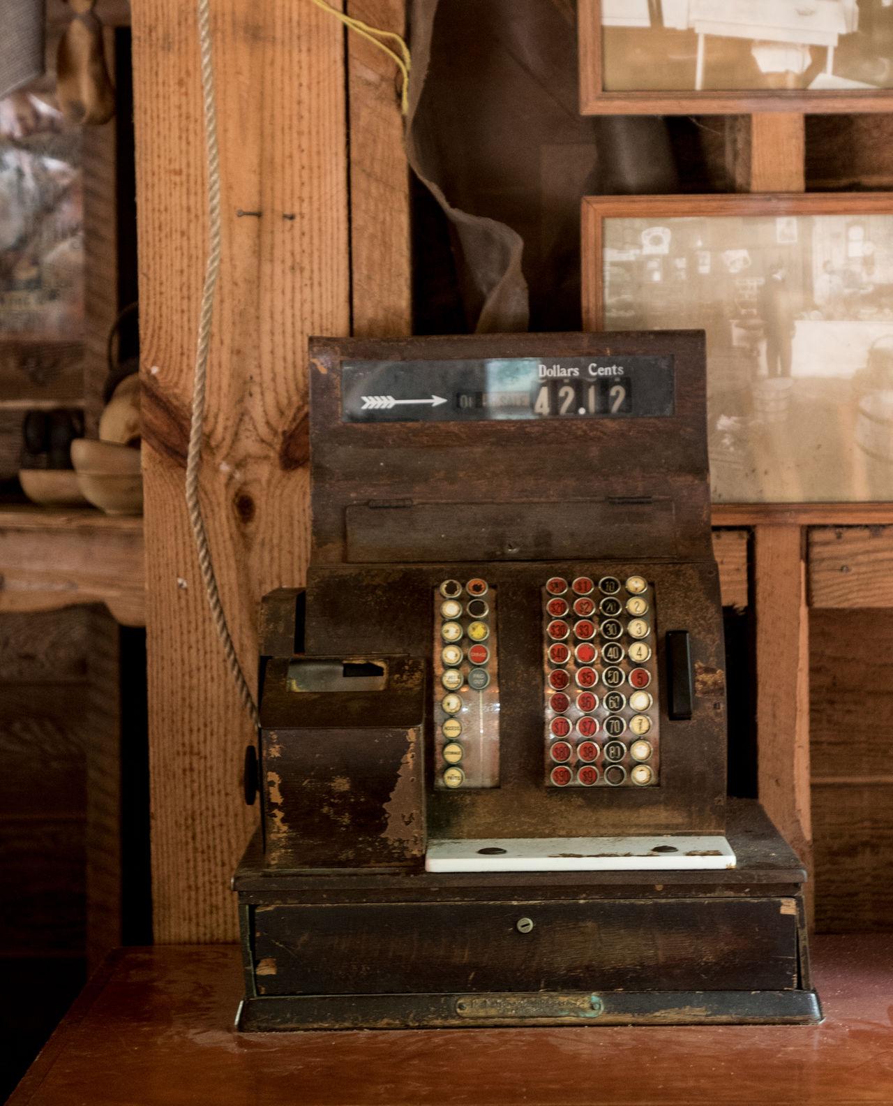 Antique Antique Shop Cash Register Cashier  Fleemarket Indoors  Market Old-fashioned