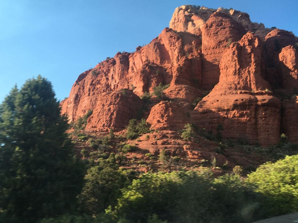 Sedona, Arizona Rock Formation Rock - Object Nature Tranquil Scene Beauty In Nature Physical Geography Tranquility No People Day Outdoors Scenics Mountain Low Angle View Cliff Sky Clear Sky Scenery Shots Scenery Photography Scenery Redness Clay Rocks