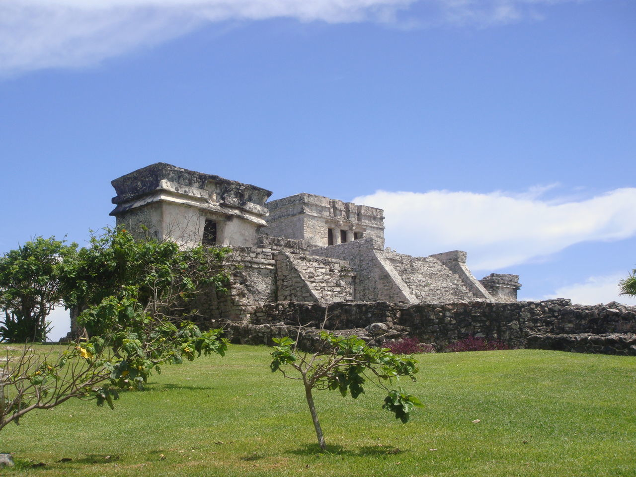 Building Exterior City Sky Architecture Built Structure Cloud - Sky History No People Travel Destinations Outdoors Nature Tree Day Tulum , Rivera Maya. Tulum Beach Tulum Ruins Tulum, Mexico Mexico Architecture