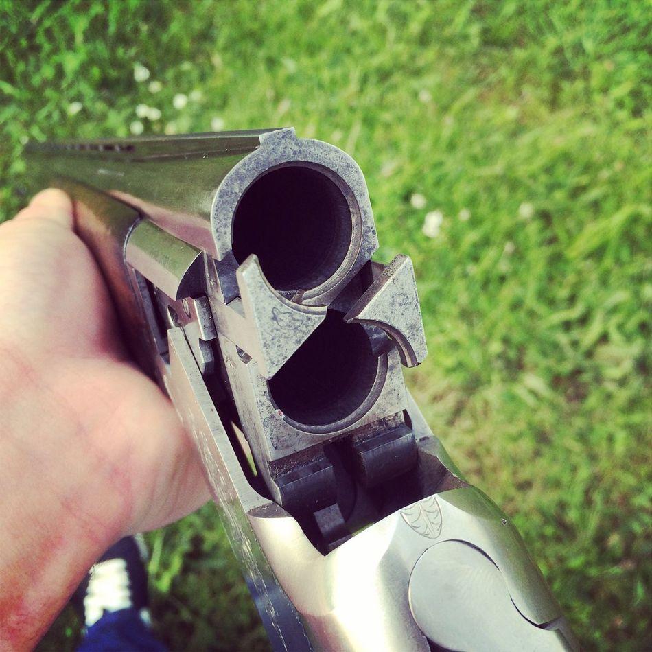 Doublebarrelled Weapon Gun Close-up Outdoors Shooting Loud BangBang Holding Sportshooting Gunclub Gunshot  GunControl Gunfire Shotgun Shotoftheday