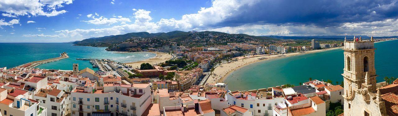 Architecture Awesome Beach Cityscape Cloud - Sky Fantastic High Angle View Mountain Panoramic Peñíscola Sea SPAIN