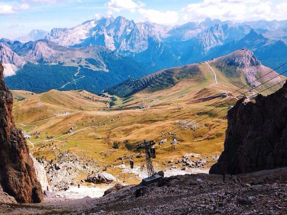 Hello Worldrld] Enjoying Life Relaxing Mountains Mountain View Italy Italia Passo Sella Carpe Diem