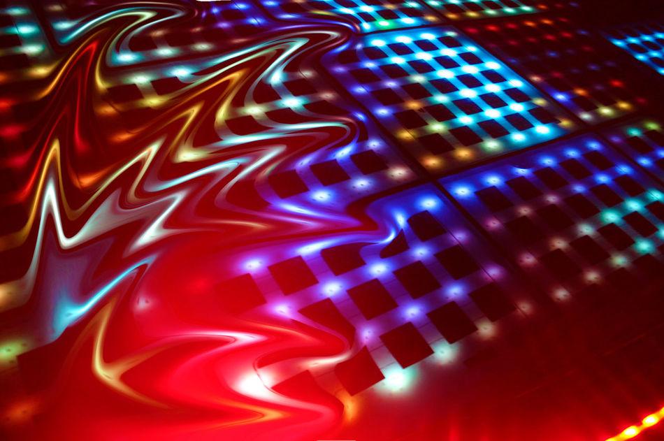 dance floor Colorful Dance Floor Denger Lights Lights Floor Liquify Liquify And Mosaic Effect Liquify Effect Melting Multi Colored Night Lights On The Dance Floor  Salutation To The Sun
